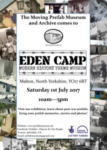 Eden Camp Modern History Theme Museum 1 July 2017