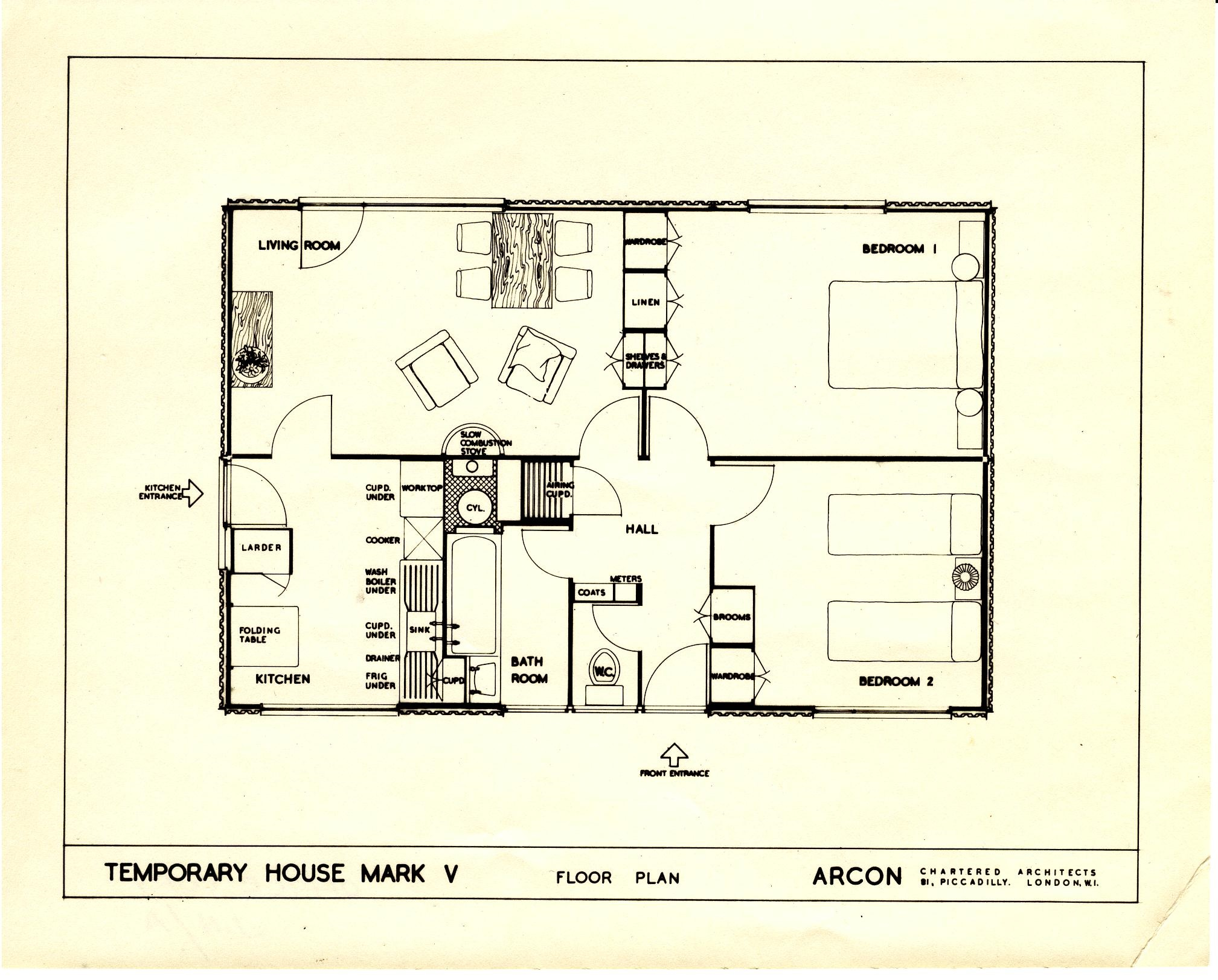 design the prefab museum floor plan of the arcon mkv