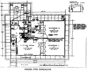 Floor plan of the Portal house | Prefab Museum
