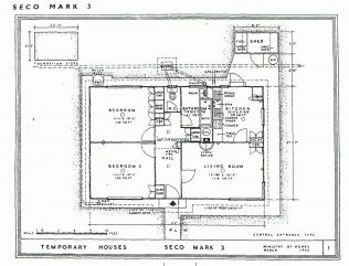 Uni-Seco Mk3 floor plan, central entrance
