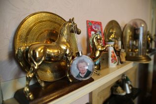 Horse memorabilia in John De'Ath's prefab, south London | Prefab Museum