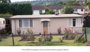 A Seco Mk.III emergency house (central entrance type) in Bristol | ARG archive