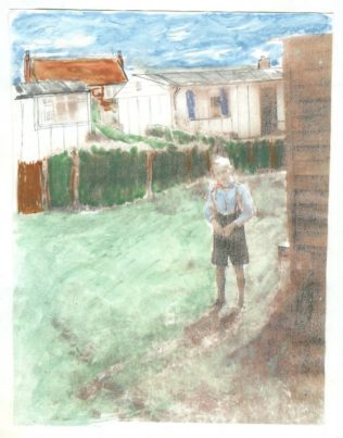 Graham's drawing of prefab childhood in North Wingfield | Graham Burton