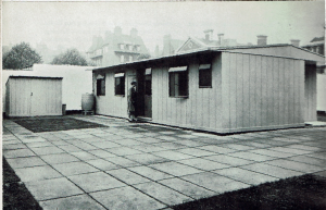 Portal prefab at the Tate Gallery exhibition, 1944