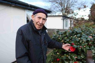 Ted Carter in 17 Meliot Road's garden