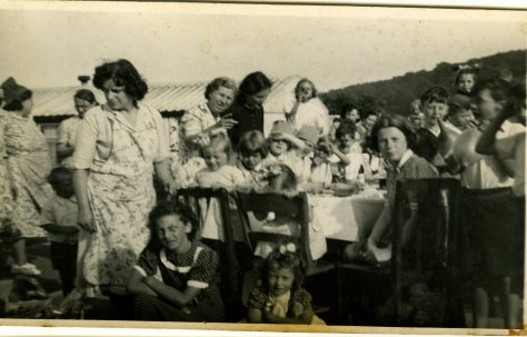 Coronation street party on the Treberth Estate, Newport, Wales, 1953