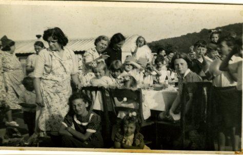 Coronation street party on the Treberth Estate, Newport, Wales, 1953