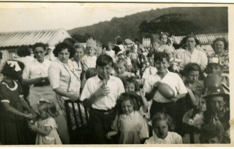Coronation street party on the Treberth Estate, Newport, Wales, 1954