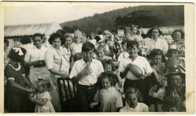 Coronation street party on the Treberth Estate, Newport, Wales, 1954 | Blanchet,Elisabeth