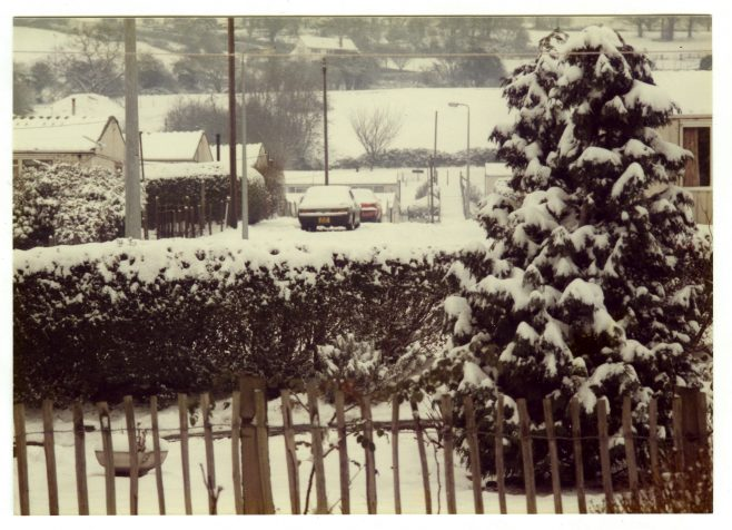 The Treberth prefab estate under the snow, Newport, Wales | Blanchet,Elisabeth