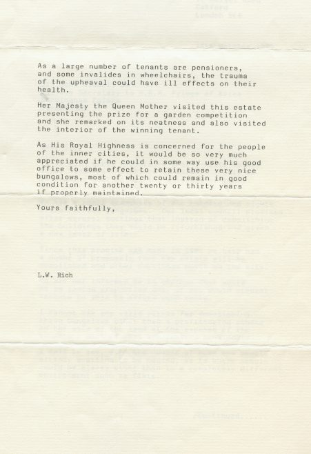 Letter from LW Rich to the Prince of Wales | Hearn,Jane
