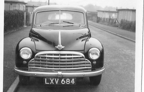 The Clare family's Morris Oxford car on Meliot Road, SE6