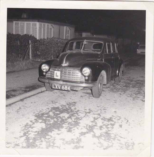 The Clare family's Morris Minor car on Meliot Road, SE6, at night | Hearn,Jane