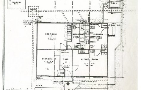 Floorplan of a central entrance prefab