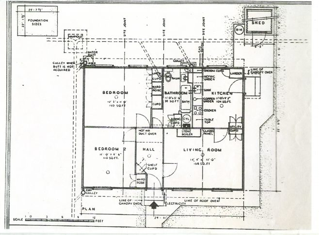 Floorplan of a central entrance prefab | Graham Burton