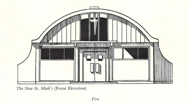 Drawing of St Mark's Church, the