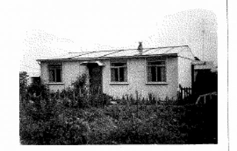 Allen and Judith Sawkins' family prefab in Farnham, Surrey, 50s