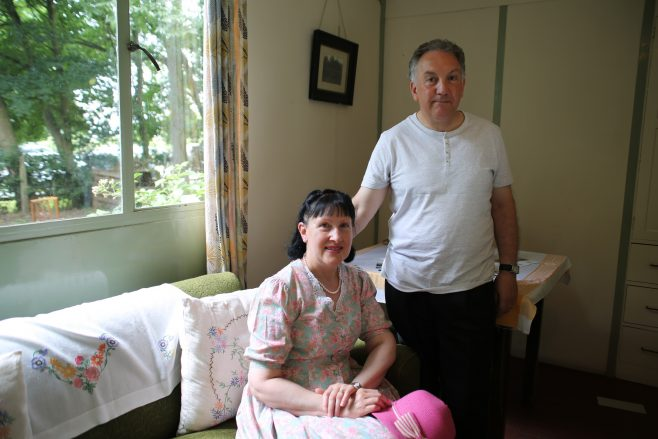 John Bashford and his wife at Avoncroft Museum, July 2016   Prefab Museum
