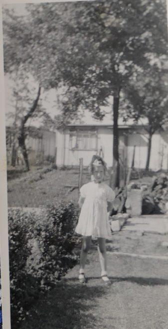 Penny Bishop in her prefab garden | Hearn, Jane