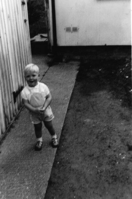 Garry Slater in back garden | Hearn, Jane