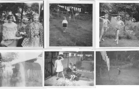 Composite of six photos of children on the Shrublands Estate