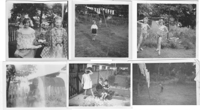 Composite of six photos of children on the Shrublands Estate | Hearn, Jane