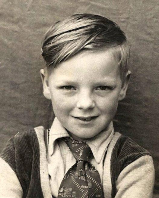 Alan Brine as a young boy