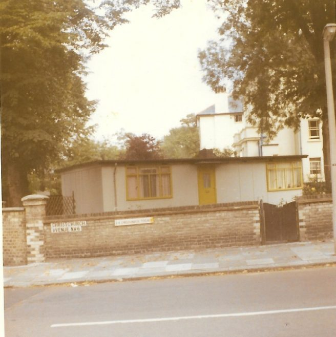 Prefab on the corner of Willesden Lane and Christchurch Avenue, London NW6