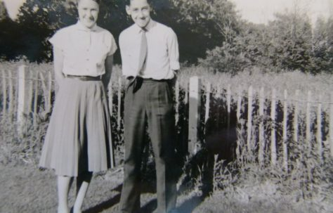 Ronald with his first girlfriend, 401 Wake Green Road, Moseley