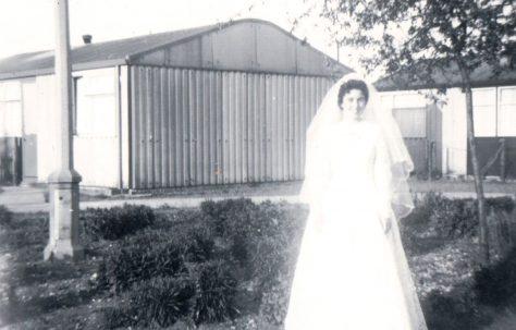 My Wedding Day, 15th June 1957. Rookwood Gardens, Hainault