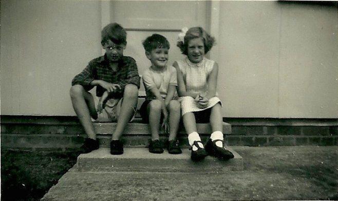 Richard Gough, Peter and Hilary next door. Abbots Gardens