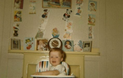 Paul on his first birthday. Berthon Street, Deptford, London SE8