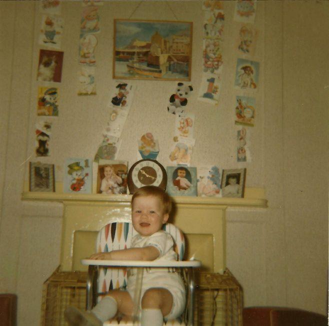 Paul on his first birthday. Berthon Street, Deptford, London SE8