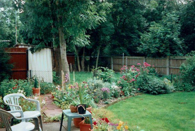 Prefab back garden, 413 Wake Green Road, Birmingham