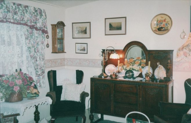 Prefab living room, 413 Wake Green Road, Moseley