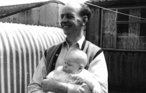 Cyril Crouchman with baby Cindy. 5 Selwyn Road, St Pauls  Cray