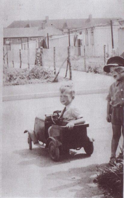 George in car. Excalibur Estate, London SE6