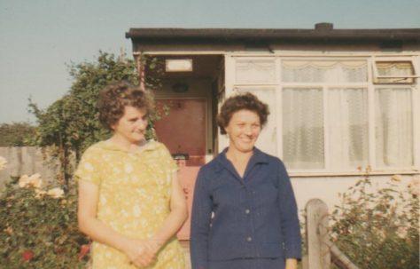 Linda's mum outside her prefab. 3 Baudwin Road, London SE6