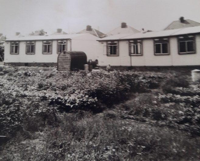 Rear of prefabs on Lowden Croft, South Yardley, Birmingham