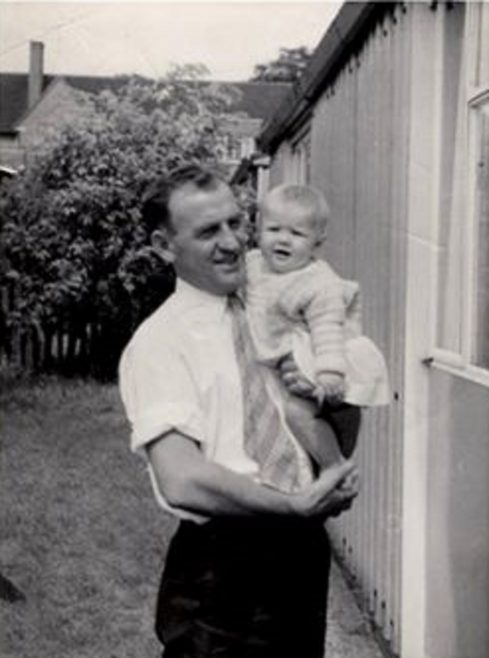 Philip Anderson with Denise Anderson. Hollyhedge Bungalows, Blackheath SE3