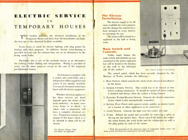 Electric Service in Temporary Houses: The Electric Installation
