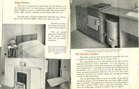 Electric Service in Temporary Houses: Plug Points, The Electric Cooker
