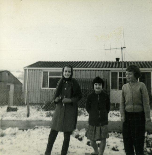 Cathy  Dobbs and friends, Treberth estate, Newport