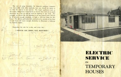 Electric Service in Temporary Houses