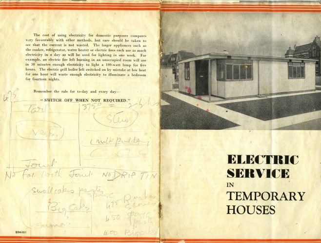Electric Service in Temporary Houses | Peggy Dobbs