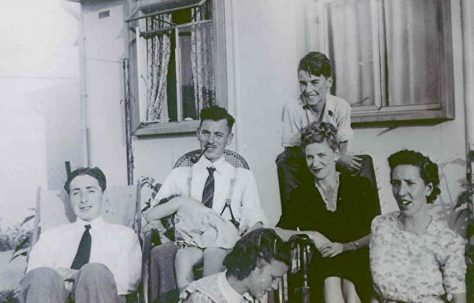 Rousselange family and friends at 87 Pilgrims Way, late 1940's