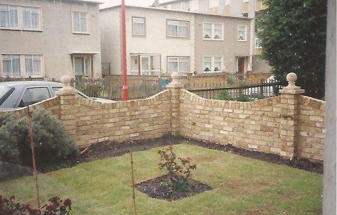Front garden of an Orlit house, Billson Street, London E14