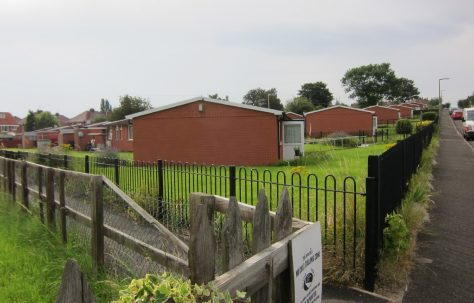 Modernised Tarran prefabs on Campsall Field Road, Wath upon Dearne