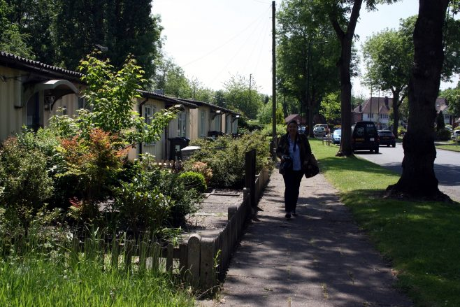 Site visit: Wake Green Road listed prefabs, Moseley. 3 June 2016