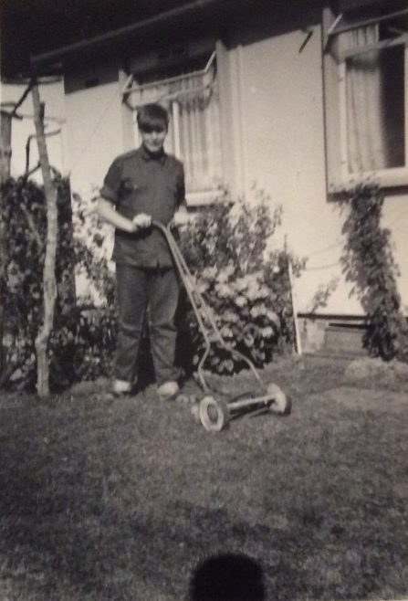 Bill (Billy) in back garden 1966-1967. Cedar Way, Acton W3
